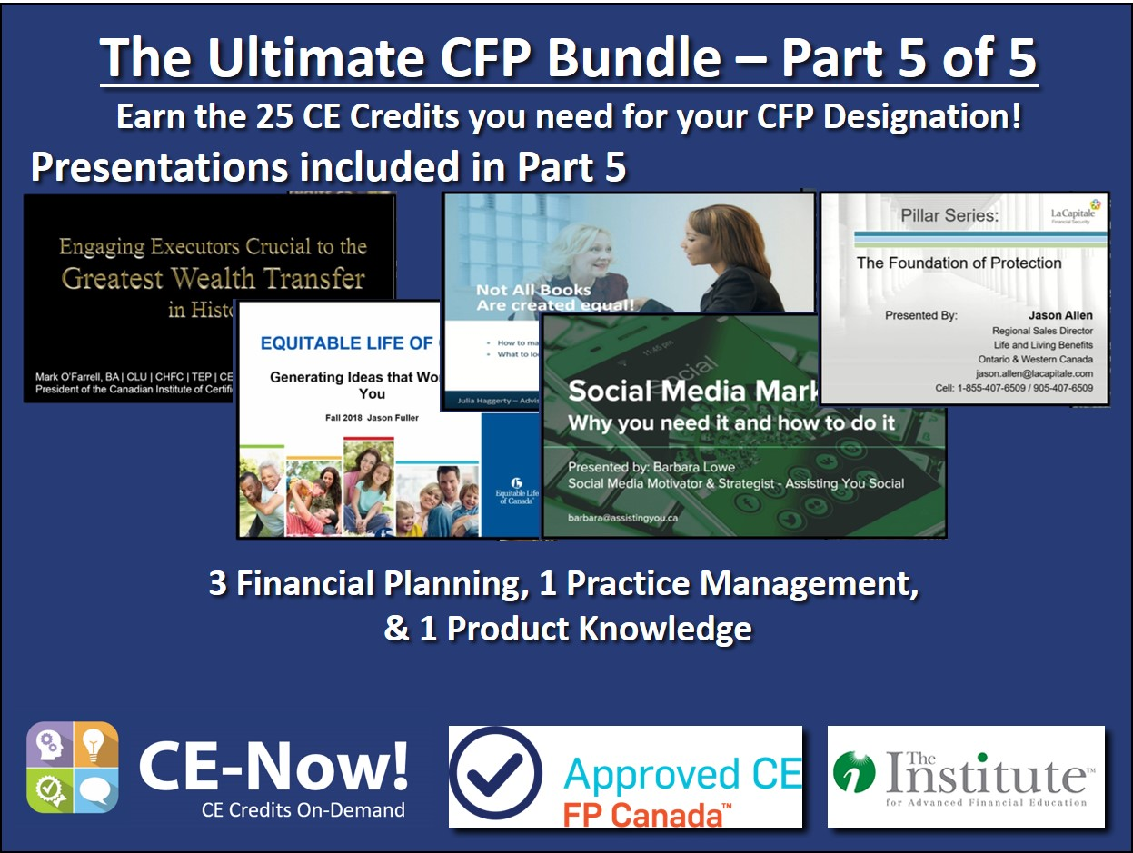 The Ultimate CFP Bundle - Part 5 of 5