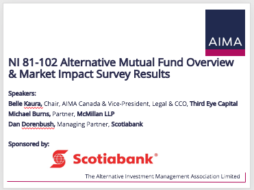 NI 81-102 Alternative Mutual Fund Overview